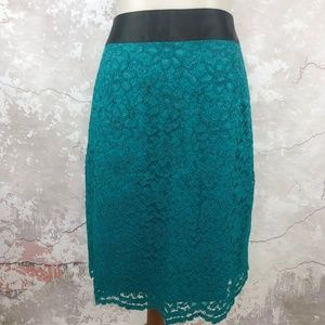 Banana Republic Green Lace L'Wren Scott Skirt NWT